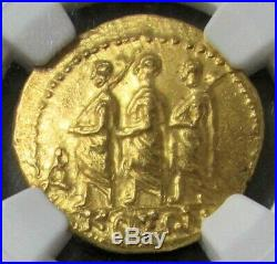 54 Bc. Gold Ancient Thracian / Scythian Stater Coson Coin Ngc Mint State 5/2