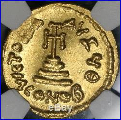 654 NGC MS Constans II Gold Solidus Byzantine Empire Mint State Coin (19010402C)