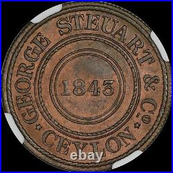 A Lovely Pridmore-96 Ngc Ms64 Rb 1843 Wekande Mills 1881 Token Toned Mint Reds