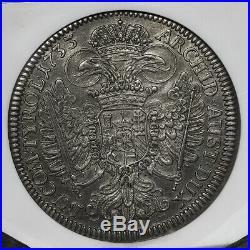 AUSTRIA Taler 1733 Hall Mint Charles VI NGC AU-50
