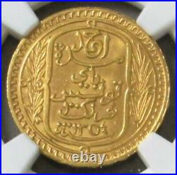 Ah1354 // 1935 Gold Tunisia 100 Francs Coin Ngc Mint State 63