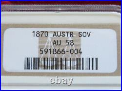 Australia. 1870 Sydney Mint Sovereign. Much Lustre gEF/aUNC. NGC AU58