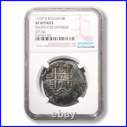 Bolivia 1735P E. Potosi Mint 8 Reales graded by NGC