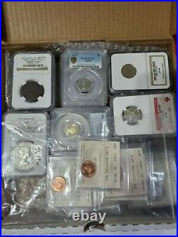 Canadian Coins Collection Lot of 48 Certified Canadian Coins