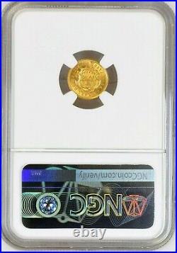 Costa Rica Republic Gold 2 Colones 1922, NGC MS 66, KM# 139 Philadelphia Mint