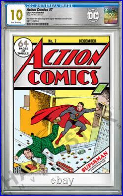 DC Comics Action Comics #7 Premium Silver Foil Cgc 10 Gem Mint First Releas