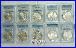 Estate Coin Lot 10x US Morgan Silver Dollars PCGS NGC Certified O, S, P MS64