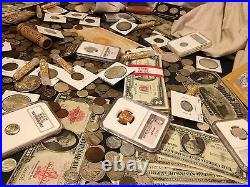 Estate Sale Lot Old Us Coinscurrencypcgs Ngcgold Silver Bullion50 Years+