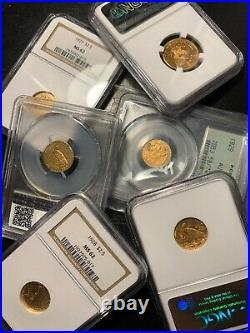Estate Sale Old Us Gold Coins 1 Piece Lot $2.5 $5 $10 P, S, D, CC Pcgs Ngc