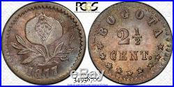 Finest Known @ Ngc & Pcgs Ms66 2 1/2 Centavo Colombia Bogota Mint Toned R249.6