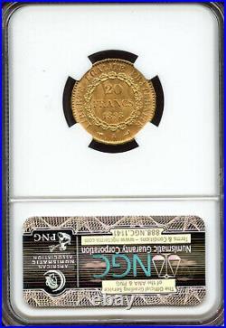 France Republic gold 20 Francs 1898-A MS66 NGC, Paris mint, Angel HIGHEST GRADE