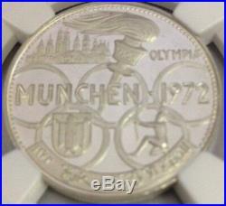 Fujairah UAE 1389 1970 Silver 5 Riyals 1972 Munich Olympics NGC PF67 Mint-1300