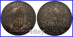GERMAN ST. Teutonic Order. Maximilian. 1614 AR 2 Thaler. NGC AU58. Hall Mint
