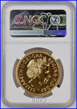 Great Britain 2003 Gold 5 Pounds Sovereign Elizabeth II NGC MS70DPL Mint-812 box