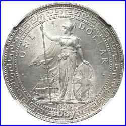 Great Britain, British Trade Dollar, 1898 B (Bombay Mint), NGC MS64