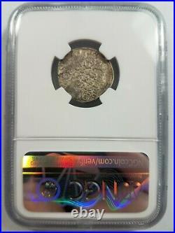 King Sigismund III POLAND NGC AU 53 Silver 3 Groschen 3G 1596 Bromberg Mint