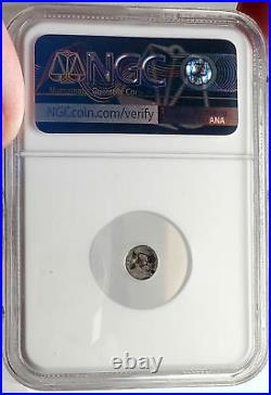 LESBOS Koinon Mint 550BC Authentic Ancient Greek Coin w AFRICAN Rare NGC i69110