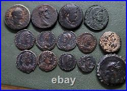 Lot of 12 Ancient Roman Coins and 2 Greeks. High Grade! Rare! NGC READY