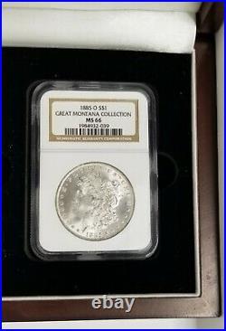 Lot of 1884o & 1885o NGC MS66 Morgan Silver Dollar Great Montana Collection RARE