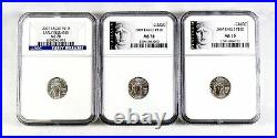 Lot of 3 $10 American Eagle 1/10oz Platinum NGC MS70 Early Release Black Label