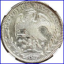 Mexico 8 Reales Zs 1844 O. M. Zacatecas Mint, PCGS AU58. KM# 377.13