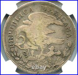 Mexico Hookneck 8 Reales 1825 Go-JJ Guanajuato mint, KM-A376.1, NGC Hook Neck