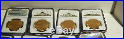 Ms62 Rare Lot Of 13 Gold $20.00 Us Liberty Coins 1922-1928 Ngc