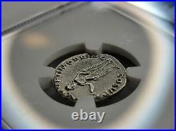 NGC Ch. VF Trajan AR Denarius. 98-117 AD. Rome Mint