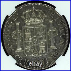 NGC Mexico 1773 8 Reales City Mint Carolus III Silver Coin Scarce AU