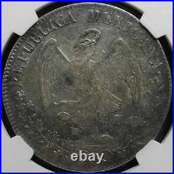 NGC Mexico 1834 8 Reales Durango Do RM Mint Silver Coin Scarce XF45