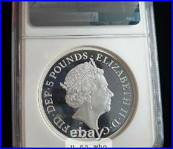 NGC PF70 2019 Royal Mint UK Silver Proof 2oz Una And The Lion Engravers 2 Ounce