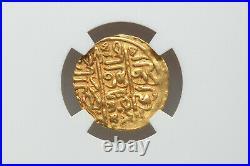 Ottoman Empire 1520. Suleyman I Gold Sultani Coin. Misr Mint Egypt NGC AU 58