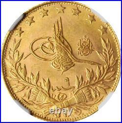 Ottoman Empire 1917. Gold Coin 100 Kurush. AH 1327 Istanbul Mint. NGC MS-64 TOP 1