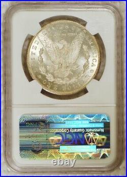 RAINBOW TONED 1884 CC Morgan Silver Dollar Carson City Mint Graded MS64 by NGC