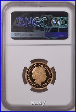 RARE 2005 Gold Proof Full Sovereign NGC PF69 MINT Limited Run 22ct Gold Coin