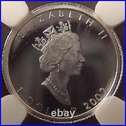 Rare 2002 Canada Platinum Maple Leaf Hologram NGC SP70 Only 500 Minted