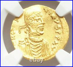 Rare Mint State Byzantine gold semissis Constans II AV 641-668 AD NGC MS 4/5 3/5