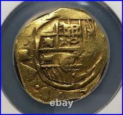 Raregold Cob 8 Escudos Of Philip IV (1634-1659) Sevilla Mint R. Ngc Xf40