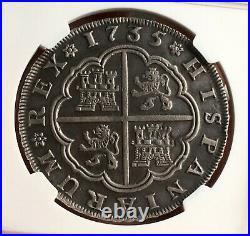 Raresilver 8 Reales Philip V. Year 1735 Sevilla Mint Assayers Pa Ngc