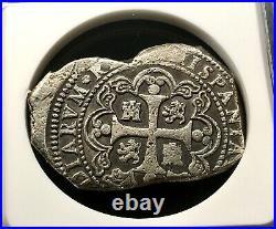 Raresilver Cob 8 Reales Type Klippe Philip V 1733. Mexico Mint M. F