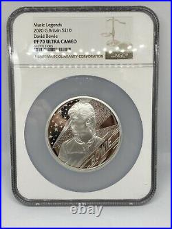 Royal Mint 2020 David Bowie Silver Proof 5oz Coin NGC PF70 UC Music Legends
