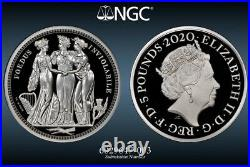 Royal Mint Great Engravers Three Graces 2020 Silver Proof 2oz Coin NGC PF70