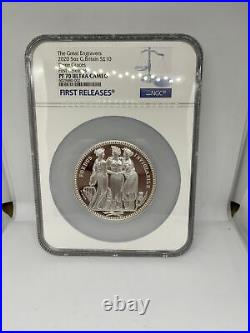 Royal Mint The Great Engravers Three Graces 2020 Silver Proof 5oz Coin PF70 NGC