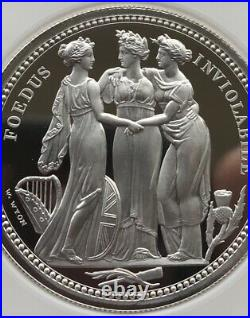 Royal Mint Three Graces 2oz Silver Proof Coin PF70 UC NGC (3 Graces)