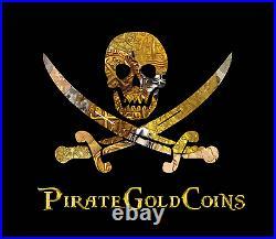 Spain 1 Escudo B- Burgos Mint Rare Pendant Pirate Gold Coins Jewelry Necklace