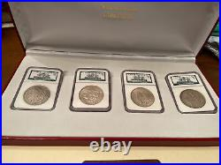 The Binion Collection Lot Of 4 Morgan Silver Dollars NGC Binion Hoard With Case