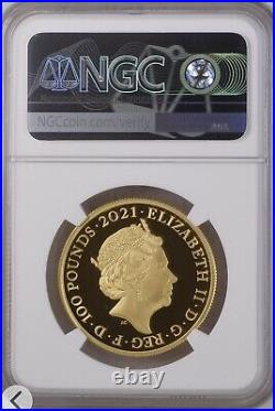 The Who 2021 £100 1oz Gold Proof Royal Mint Music Legends NGC PF70 First Release