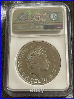 Three Graces, Royal Mint 2020 2oz Silver Proof £5 Coin, NGC PF70, First Releases