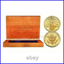 USA 1976 US MINT NATIONAL BICENTENNIAL GOLD MEDAL with Box