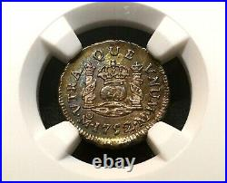 ¡¡ Uncirculated! Silver 1/2 Real Ferdinand VI Year 1752. Mexico Mint Ngc Ms63